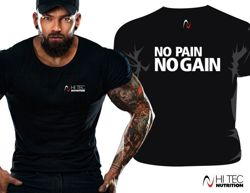 T-shirt męski nadruk NO PAIN NO GAIN